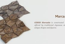 Gemss Marcasite / Gemss Marcasite  is constructed to explore design possibilities offered by traditional Japanese art of folding papers to create unique shapes and figures.