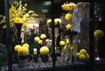 Flower Cart Window Displays