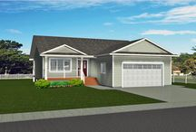 Bungalows with Attached Garage / Bungalows are built on larger City lots but most popular for acreages and farms as they have all the living space you need on the main floor but can also have spacious country kitchens and large attached garages.
