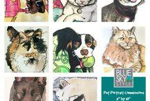 My Etsy Shop / Pet portraits.