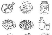 Knutselen : Voedingsdriehoek