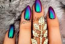 Mirror Nails and chameleon effect holo manix / Nails with mirror effect and chrome effect chameleon nails holo manix