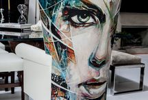 Artistic painting on furniture