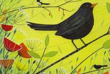 My work: Greeting Cards / birds, hares, wildlife,  Michelle Campbell Art. Licensed Art, Licensing, Art for Licensing.