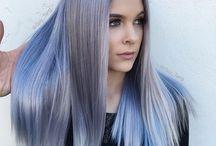 Metallic hair