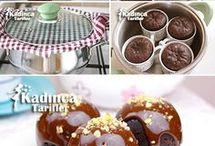 tencerede kakaolu fincan kek