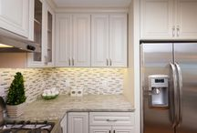 Kitchen Design: Perfect Pistachio with Ivory Kitchen Cabinets / Bring the wonderfully perfect pistachio color into your kitchen with accent pieces, kitchen accessories, and the B. Jorgsen Ivory Kitchen Cabinets!