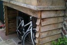 garden and log storage