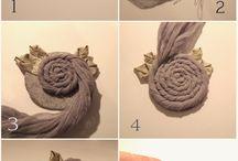 Броши, текстильные цветы