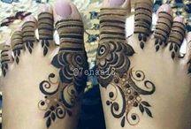 Feet mehandi designs