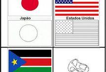 bandeiras para colorir