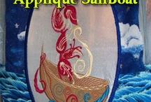 Applique Floral Sailboat designs