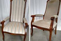 Opnieuw gestoffeerde meubels