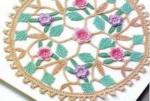 crochet flower doilies