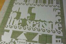 Paper Cutting Work in Progress