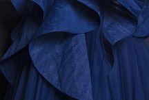 синее