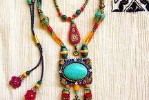 boho necklace & bracelets
