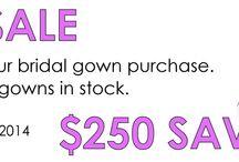 Bridal Gown Sale - Save $$$$ / We're having a huge bridal gown sale - ends 15 March 2014!!! www.gorgeousgownsrus.com.au