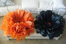 kwiaty z bibuły tissue