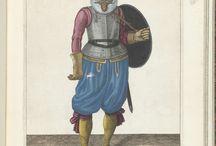 Adam van Breen   De exercitie met schild en spies: de soldaat brengt met zijn linkerarm het schild terug op de rug (nr. 26), 1618, Adam van Breen, Anonymous, 1616 - 1618