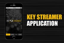 Application Design - KS / Key Streamer Application Design + Logo
