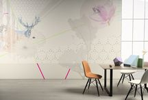 Senses / Unusual combinations of animals, flowers, plants and geometric forms with delicate pastel shades.