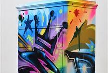 Móveis de graffiti