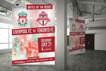 Liverpool FC vs. TFC - Client / Designing the look and feel of this Football Showdown
