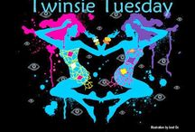 Twinsie Tuesday / The Twinsie Tuesday group; we do manis every week, via a predetermined list of themes.
