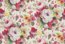 Flowers / Pattern / Prints / Colours / Interior / Design / Fabrics / Textiles / Wallpaper / Curtains