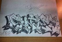 Bocetos graffiti / Dibujos en papel de graffitis