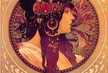 Art Nouveau, Tattoos and Illustration
