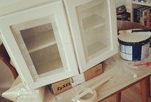 Vores gør-det-selv-projekter / Ting vi laver med hænderne i vores lille hus. Der vil være dårligt belyste fotos og rystende kamerahænder.