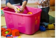 Organization / Organization tips for the home, playroom, kid's rooms, etc.