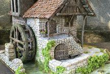 Le moulin de Florence... / Je vous ai présenté il y a quelques semaines, une magnifique église réalisée par mon amie Florence, du Forum Passion des Villages. Je voulais aujourd'hui vous présenter sa toute nouvelle création, un magnifique moulin de style médiéval...une petite merveille...