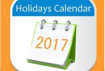 Holidays Calendar 2017