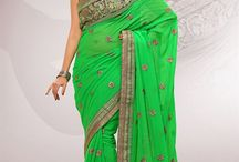 Embroidered Sarees / Get Designer Embroidered Sarees with wide variety of colors and fabrics at most affordable price in India.  / by Simmaya
