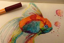 Rysunki / Wszystkie rysunki są mojego autorstwa. All rights reserved AJ