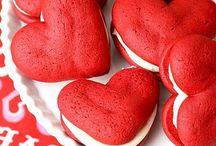 Galletas de terciopelo rojo