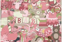 {Our New Princess} Digital Scrapbook Kit by Wimpychompers Creations / Baby girls are so precious and sweet, I love the way they smell after a bath. Celebrate them with this kit for baby girls.