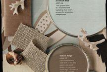 Dark brown colour palette
