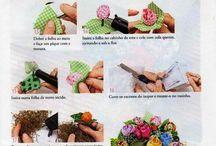 Arranjos de flores de tecido 2