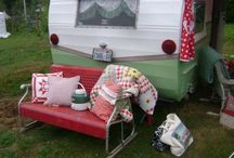 Dream Camper / Someday, I will have a little pink camper, and make it my retreat/portable knitting studio.  And I will drive around, being happy and teaching people to knit.  Sigh.  / by Georgiann Coons