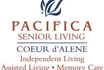Pacifica Senior Living Coeur d'Alene / At Pacifica Senior Living Coeur d'Alene, our residents have many choices when it comes to filling their days—which is attractive to seniors seeking a comfortable, stylish, intimate senior care community. Our community graciously offers well-appointed private accommodations. We offer a variety of activity programs, nutritious and delicious meals and snacks, scheduled transportation, extensive social activities, and the convenience of weekly housekeeping.