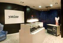 Tiendas Yomime / Nuestras boutiques de C/Sanclemente 15 y Puerto Venecia en Zaragoza y C/ Velázquez 30 en Madrid
