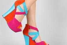 Dolgu topuklarr WEDGE / Rengarenk dolgu topuk ayakkabılar gözalıcı :)