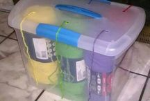 Clever Yarn storage / Knitters / Hookers are so clever when it comes to yarn and how its stored!