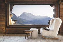 Le mix chic / Un mélange style montagnard et chalet design pour une déco chaleureuse qui mélange meubles contemporain et pièces anciennes