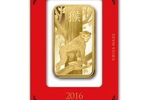 PAMP Lunar Bullion Bars / Atkinsons stunning range of 2016 & 2017 Gold & Silver Bullion Bars, made by PAMP to celebrate the Chinese years of the Zodiac