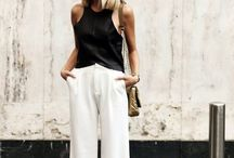 wide leg pants / Wide leg, high waist pants outfit ideas